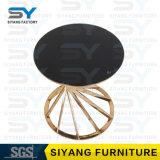 Hauptmöbel-Glastisch-Goldseiten-Tisch-Spiegel-Seiten-Tisch