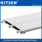 Los andamios de aluminio de la pasarela en voladizo tablón