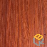 Papier imbibé par mélamine décorative en bois des graines de teck pour les meubles, la porte et l'étage du constructeur chinois