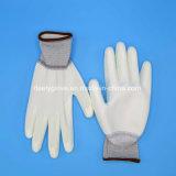 Gants enduits d'usine des gants En388 4131 d'unité centrale de gants blancs de travail