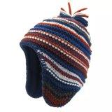 Жаккард связал шлем Beanie шлема POM POM связанный шлемом связанный перчатками