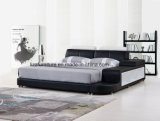 現代寝室の家具の革ベッドの現代ホーム家具