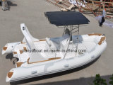 Boot van de Rib van de Glasvezel van de Visserij van Liya 19FT de Speciale Opblaasbare Semi