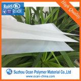 전등갓, 백색 PVC 전등갓 물자를 위한 백색 광택 있는 PVC 엄밀한 장