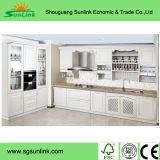 純木のホーム家具の食器棚の収納キャビネット