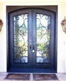 Artes e porta de entrada feita sob encomenda do ferro da segurança dos ofícios com vidro