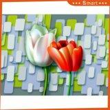 유화를 인쇄하는 우아한 성격 백합 다채로운 꽃 주문 디지털