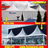 De witte Transparante Hoge PiekLuifel Gazebo van de Tent voor de Gast van Seater van 300 Mensen