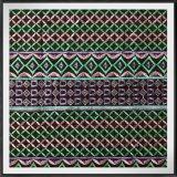 Chiffon com bordado 100%Polyester