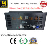 D2450 450W+450W 2 Canales de la clase-D Módulo DSP Altavoz activo
