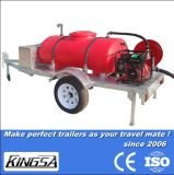 Reboque do tanque de água de funcionamento fácil com certificação CE