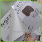 고급 제품은 플라스틱 레이블 스티커 인쇄를 지운다