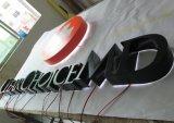 Metallspray-Lack-Rückseiten-Lit, der Anschlagtafel-FirmenzeichenSignage bekanntmacht