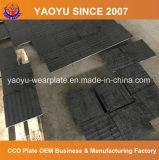 Plaque de garniture bimétalliques avec superposition de soudure de carbure de chrome
