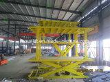 Elevador de tijera de vehículos subterráneo para estacionar