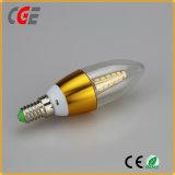 LEDの球根超明るいSMD 10W C37 LEDの蝋燭の球根