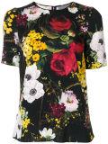 공장 우아한 숙녀의 꽃은 t-셔츠를 인쇄했다