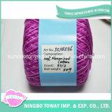 極度の薄いポリエステル刺繍は縫う綿の糸を雑色にした