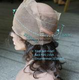Frontal três do laço do cabelo 360 da felicidade/livres/cabelo suíço do brasileiro do Virgin da onda do corpo parte superior média da parte