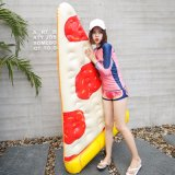 Inflável Water Swim Pool PVC Pizza Lounge Cama Float Toy