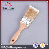 Matériel de haute qualité Soft PBT & Pet Double brosse en bois de poignée en bois