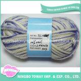 Cheap Quente Sock tingido tecido de lã Fios fantasia Knitting