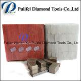 Segmento do diamante da pedra da lâmina do espaço em branco da solda da prata da ferramenta do cortador do círculo