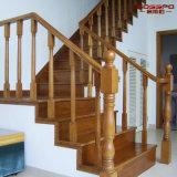 Villa utilise des escaliers en bois de chêne massif avec main courante (GSP16-001)