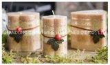 Candela di giorno del biglietto di S. Valentino, candela romantica della colonna, candela della colonna