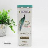 rectángulo con bisagras latas cuadradas del estaño del té 100g