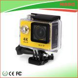 câmera do esporte do capacete 4k com WiFi e caso impermeável