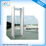 Detector de metales portable impermeable del recorrido del Doorframe, puerta del detector de metales de la arcada de 6 zonas