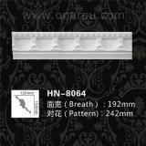 Cornisa clásica Hn-8064 de la PU del moldeado del huevo del poliuretano y de corona del dardo