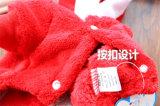 L'animal familier de Noël de modèle vêtx la couche de crabot de flocon de neige de Hoodie