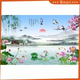 La pintura de paisaje china impresa inyección de tinta para la decoración casera