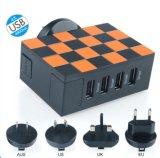 Chargeur à la maison universel multifonctionnel de vente chaud de course de chargeur du plot 4 USB