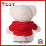 O urso da peluche do urso da peluche personalizou ursos da peluche com roupa vermelha