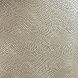 Wave Lines couro de PVC sintético para mobiliário Sofa Making