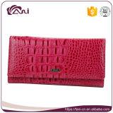 De Met de hand gemaakte Lange Korrel van uitstekende kwaliteit van de Krokodil Dame Leather Wallets From China Leverancier