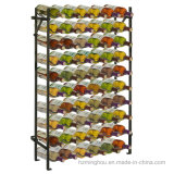Colección Free Standing Floor Bottle Display Almacenamiento Metal Wine Rack