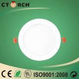 El panel redondo ahorro de energía LED del Ce 15W Embeded de Ctorch con el rectángulo de la potencia externa