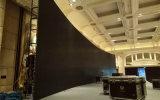 Pantalla video curvada/flexible de interior P4.81 del LED para los acontecimientos de alquiler