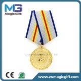 熱い短いリボンが付いている販売によってカスタマイズされる金属軍メダル