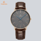 Relógios Relógios masculinos de moda 2017 Rose Gold Casual Quartz Relógio Relógios de couro Relogio 72704