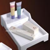 Белый пластичный поднос приятностей ванной комнаты гостиницы подноса сервировки (BTR-P1004)
