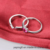 교전 925 은 반지 - 세트 62를 겹쳐 쌓이는 분홍색 다이아몬드