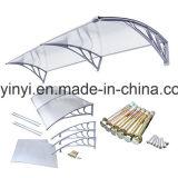 1200mm Luifel van het Terras van het Polycarbonaat DIY van de Diepte de Openlucht Plastic (yy1200-c)