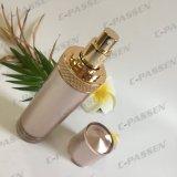 botella de acrílico de la loción del oro de 50ml Rose para el empaquetado del cosmético (PPC-ALB-058)