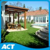 pelouse artificielle de aménagement semblante normale L40 de gazon de jardin d'herbe de 40mm