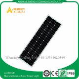 Nuovo indicatore luminoso di via solare tutto compreso del giardino di energia 100W LED con indicatore luminoso fioco